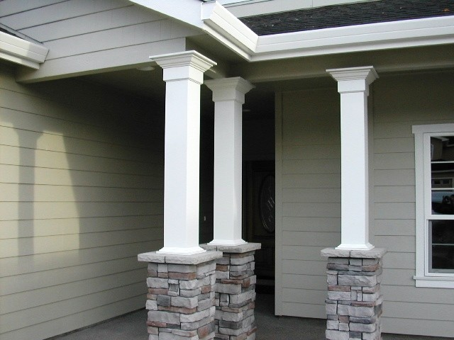Porch columns traditional porch other metro by for How to build decorative columns