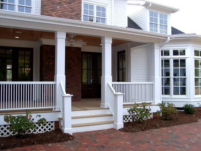 Porch columns traditional porch miami by for Traditional porch