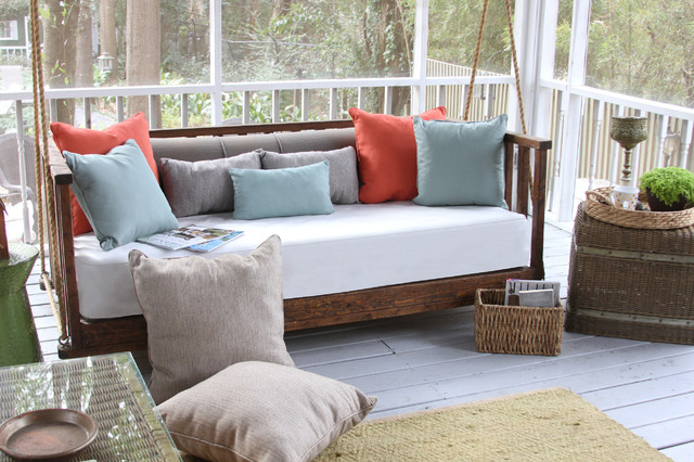 Porch Daybed Swing Cushions And Pillows Traditional