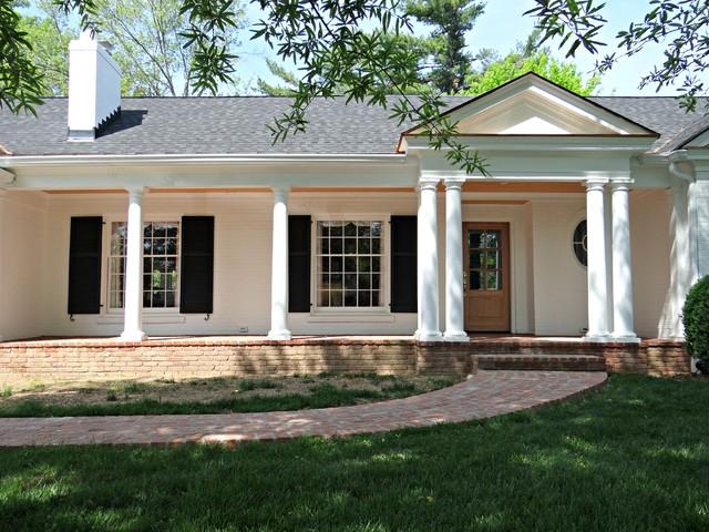 Porch Garage And Facade Facelift For A Ranch Style Home