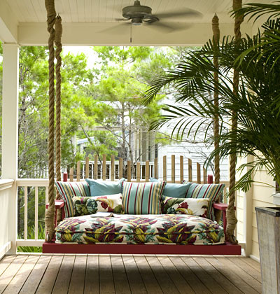 Porch Swing tropical-porch