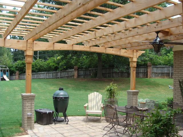 Porch trellis for Craftsman style trellis