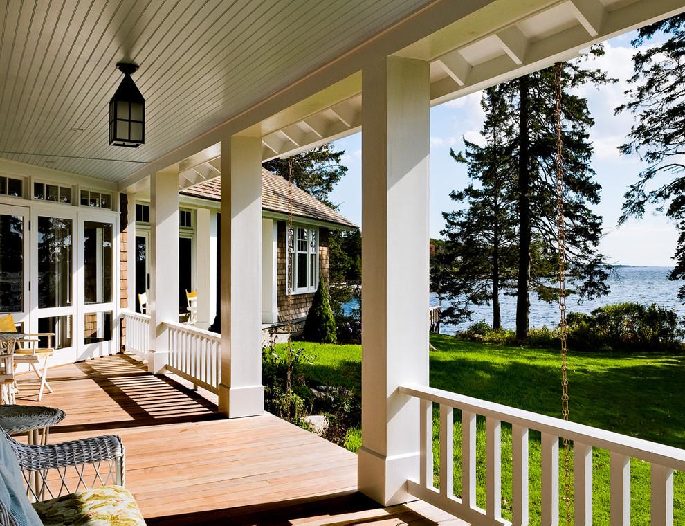 Beach style porch photo in Portland Maine