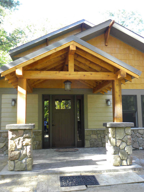 Porches trusses traditional porch other by for Open beam front porch
