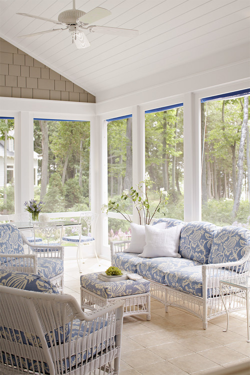 beach-style-porch Wicker Conversation Sets