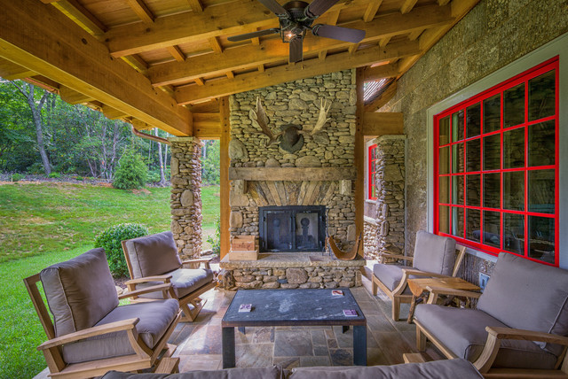 Porches Rustic Porch Charlotte By Carolina Timberworks