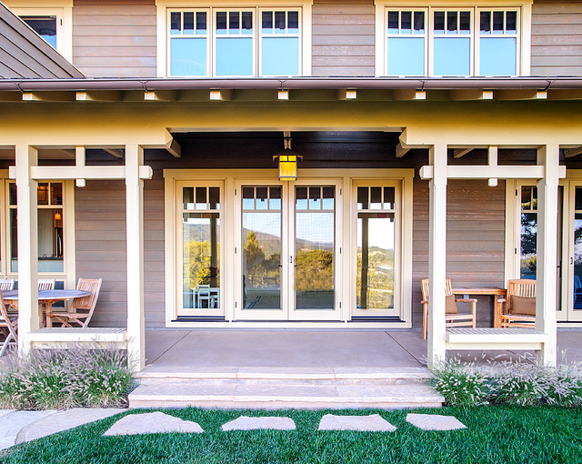 Portola valley residence 2 craftsman porch san for Windows for craftsman style homes