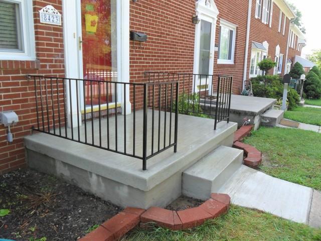 Poured concrete porch for Best way to clean concrete porch