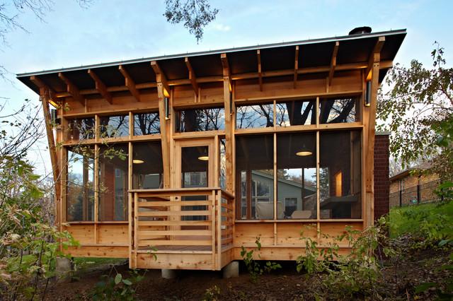 Prarie Meets Pampa Pavilion rustic-porch