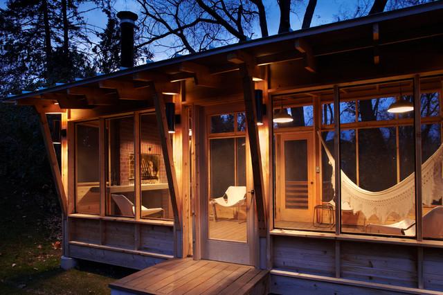 Prarie Meets Pampa Pavilion Rustic Porch Minneapolis
