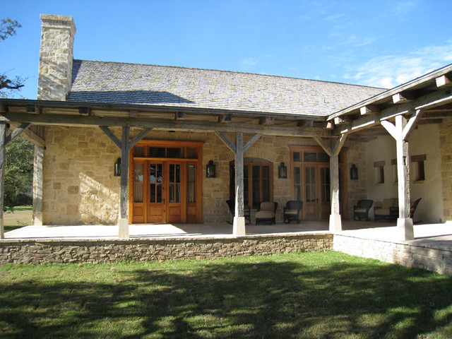 Reese ranch headquarters south texas rustic porch for South texas house plans
