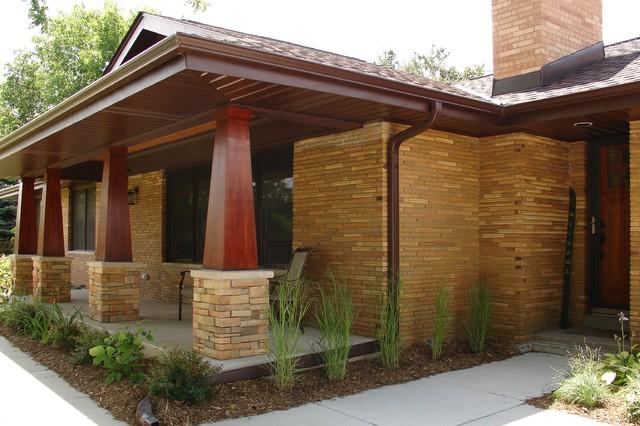 Ranch Porch Addition Craftsman Porch Milwaukee By