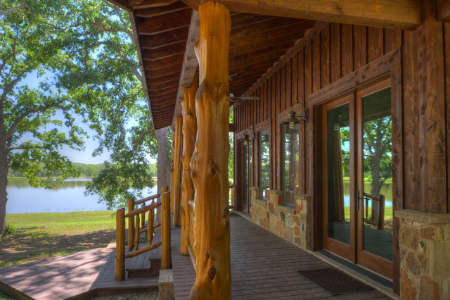 Ranch Style By The Lake Rustic Porch Houston By