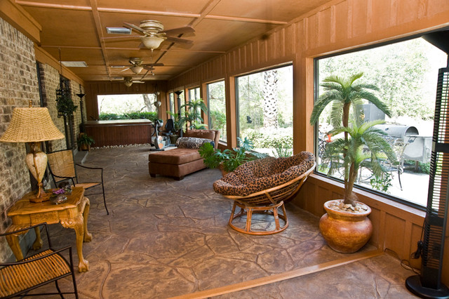 Ranch Style Home Traditional Porch Houston By
