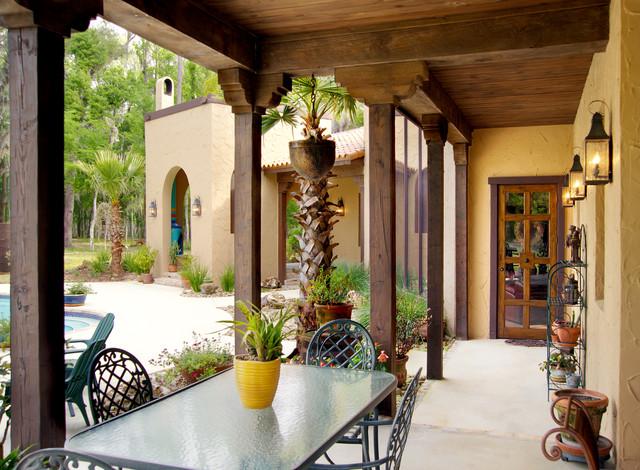 Rear porch for Mediterranean front porch designs
