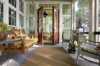 Rear Porch beach-style-porch