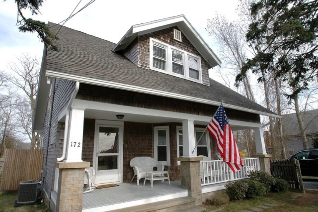 Remodel cape cod craftsman porch boston by new for Craftsman cape cod