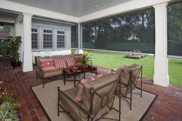 Retractable motorized screens at adams hall winter park for Motorized retractable screens for porches