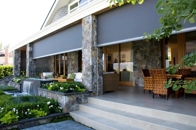 Retractable Screens Bring Outdoor Living   Okanagan Style Contemporary Porch