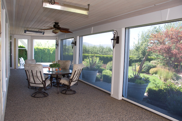Attractive Retractable Screens Help Bring The Outside In   Kelowna BC Porch