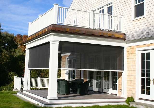 Awesome Retractable Screens Traditional Porch