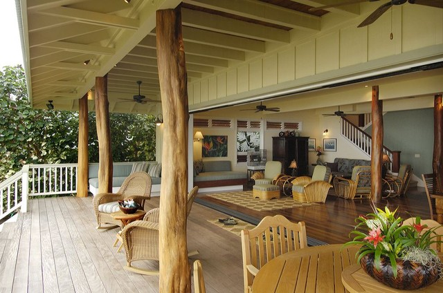 Retro hawaii beach cottage traditional porch hawaii for Designing interiors inc