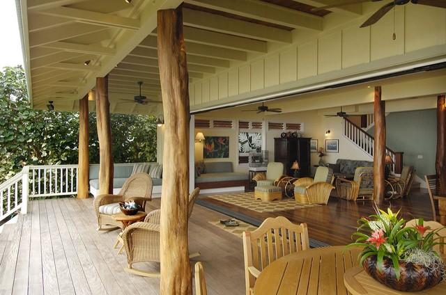 Retro Hawaii Beach Cottagetraditional Veranda