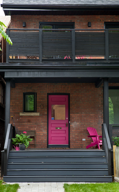 Eclectic Porch Toronto Riverdale Renovation eclectic-porch
