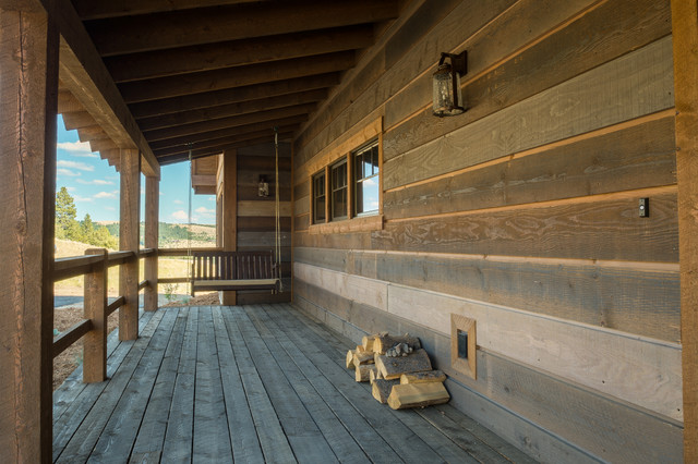 Rock Creek Cattle Co-Basin Cabins rustic-porch