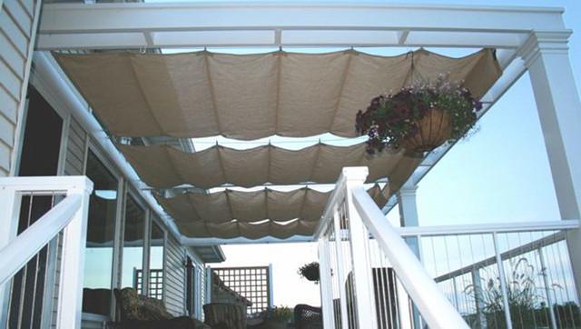 Roman Shade Sails by Tenshon traditional-porch