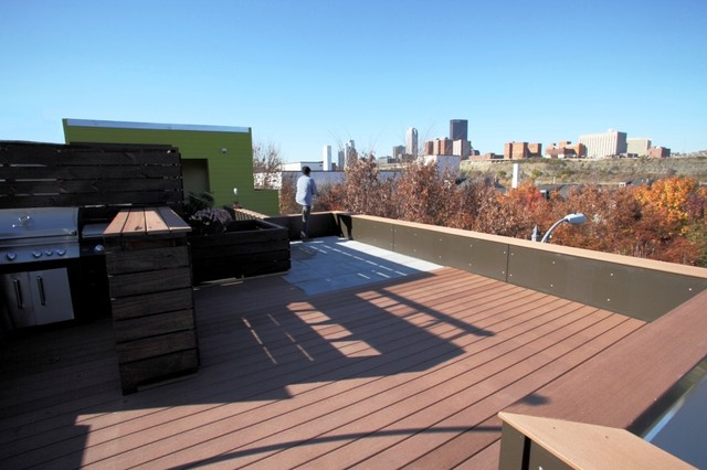 Roof Deck Pittsburgh Modern Porch