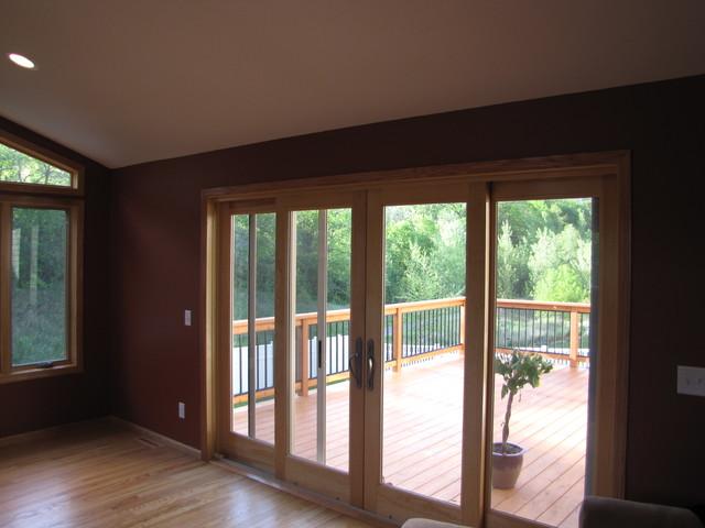 Rosemount 4 season porch with deck traditional-porch