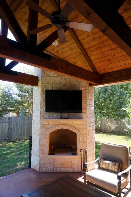 Round Rock Tx Covered Patio With Cozy, Covered Patio Austin
