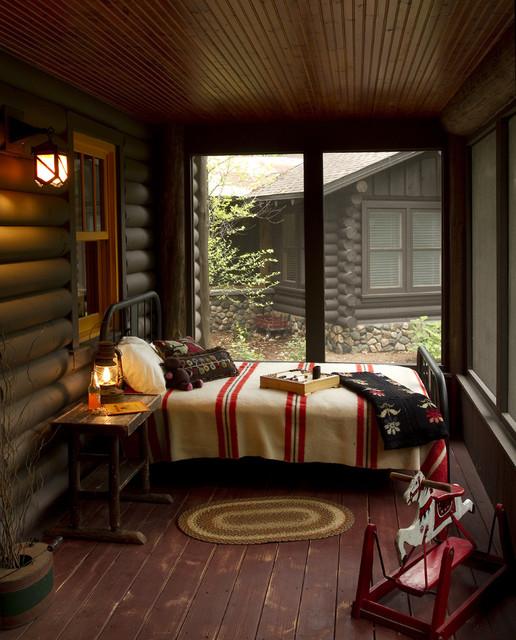 Screened Porch rustic-porch