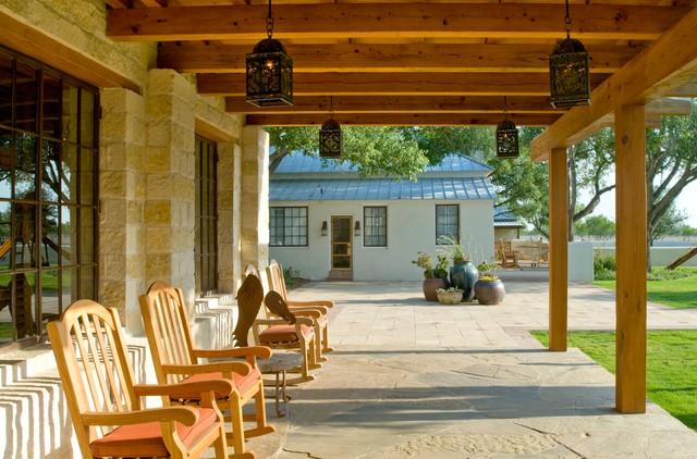 Veranda Amerikanisch rustic hacienda style ranch amerikanischer südwesten