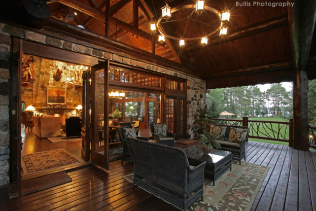 Rustic Old World Lodge rustic-porch