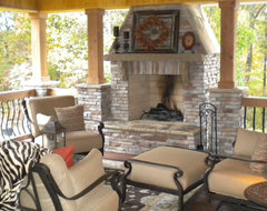 Rustic outdoor room traditional porch