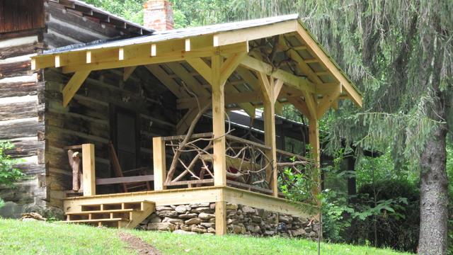Taylor Cabin rustic-porch