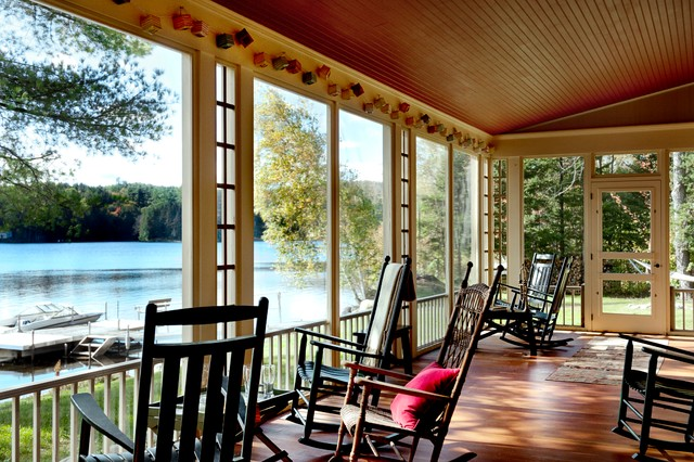 Rustic porch for Cabins burlington vt