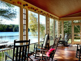 traditional porch Houzz Tour: A Peaceful Lakehouse Rises From the Rubble (14 photos)