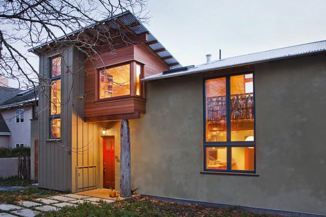 Santa Cruz Straw Bale House Contemporary Entry San