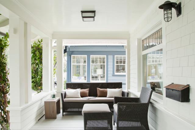 Santa Monica Beach House Beach Style Porch Los