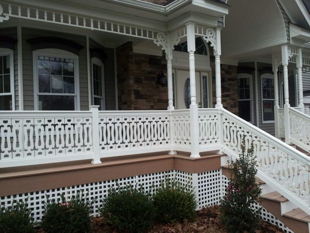 Sawn Balusters Traditional Veranda Miami By