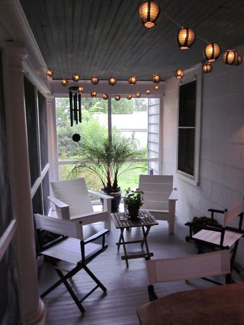 How To Hang String Lights On Screened Porch : Screen Porch 2