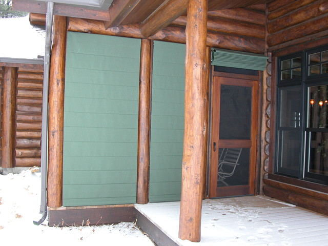 Screen Porch Blinds Traditional Porch Minneapolis