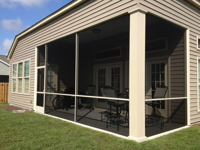 Screen Porch install by Screenmobile of Wilmington NC traditional-porch