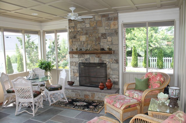 Screen porch is a beautiful outdoor living room traditional-porch