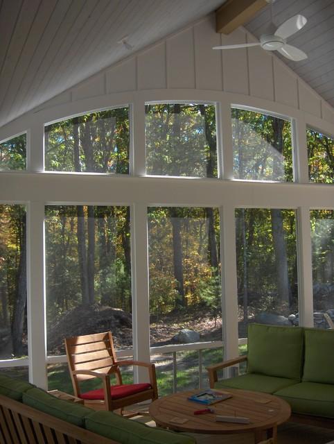 Screen porch eclectic-porch