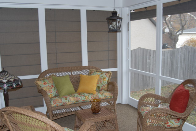 Screen Porch Shades Add Privacy Eclectic