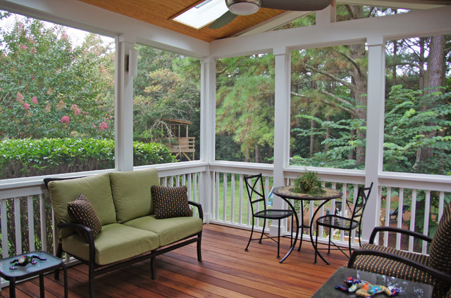 Screen Porch Contemporary Porch Raleigh By Sophie